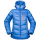 Bergans W's Memurutind Down Jacket Light Winter Sky/Athens Blue/Pumpkin